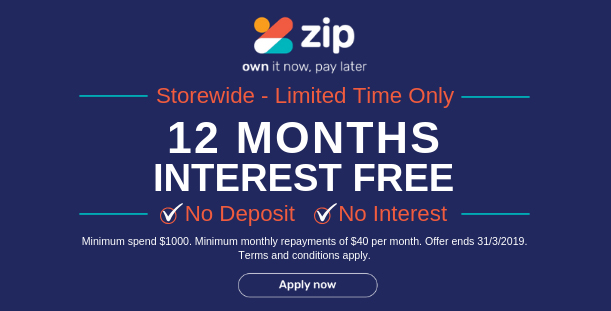 Zip Pay - 12 Months Interest Free