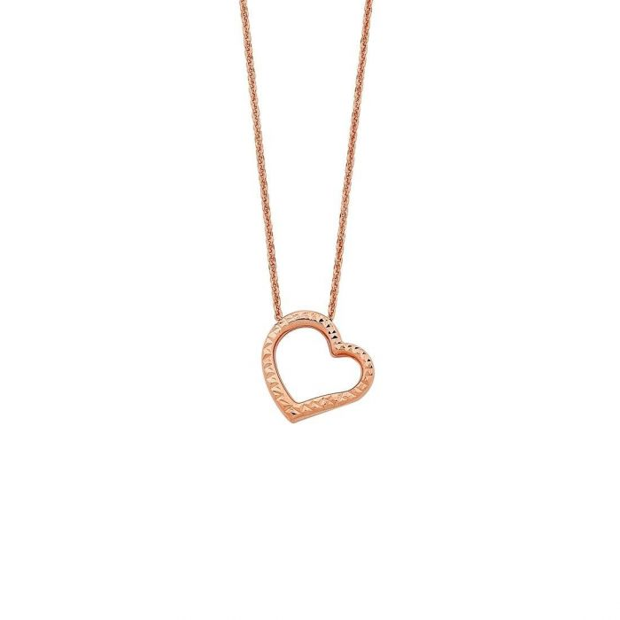 Buy 9ct Rose Gold Silver Infused Open Floating Heart Necklace With Afterpay Humm Openpay Zip Shopzero